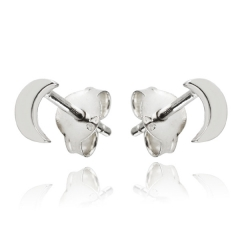 Landou Jewelry 925 Sterling Silver Tiny Crescent Moon Stud Earrings