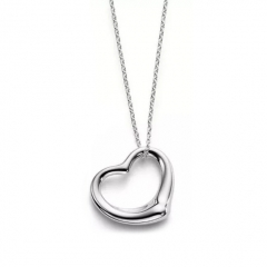 Women Jewelry Fashion Sterling Silver Heart Necklace