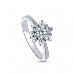 Customized Jewelry Sterling Silver Cubic Zirconia Ring for Women