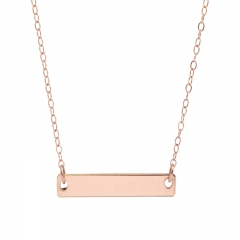 Simple Jewelry 925 Sterling Silver High Polish Bar Necklace