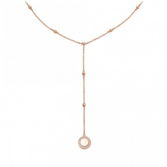 Sterling Silver Jewelry Manufacturer New Collection Beaded Lariat Chain Hanging Cosmos Necklace