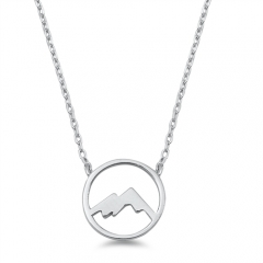 ODM/OEM Jewelry New Arrivals Sterling Silver Mountains Necklace