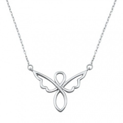 High Polish Sterling Silver Angel Necklace China Jewelry Manufacturer