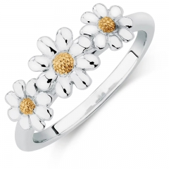 Three Flower Rings Daisy Flower Ring Hot Sale Ring Factory Price Ring Jewelry