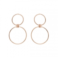 925 Sterling Silver Mixed Circle Earrings Women Jewelry