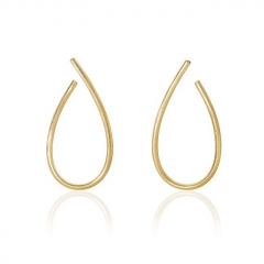 Fine Jewelry Customized 18K Gold Plated 925 Silver Large Kharisma Earrings for Women