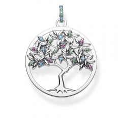 Ladies Thomas Sterling Silver Glam & Soul Paradise Multistone Tree of Love Pendant PE826-973-7
