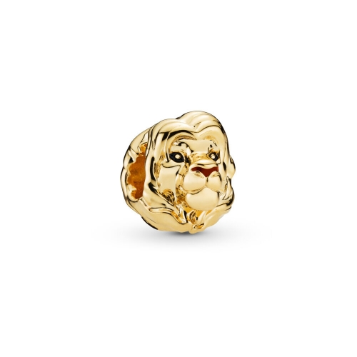 Brand Jewelry Sterling Silver 18K Yellow Gold The Lion King Simba Charm 798049ENMX